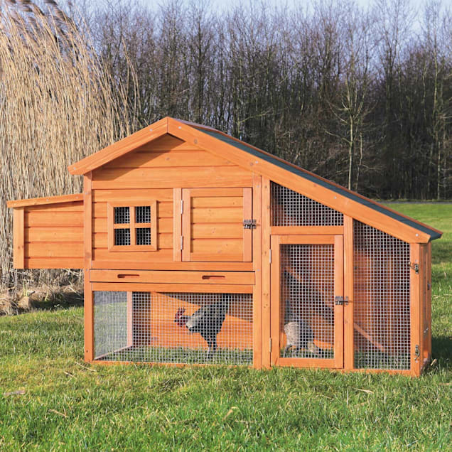 Trixie Natura Peak Roof Chicken Coop with Outdoor Run - Carousel image #1