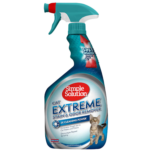 Simple Solution Extreme Stain and Odor Remover for Cats, 32 fl. oz. - Carousel image #1