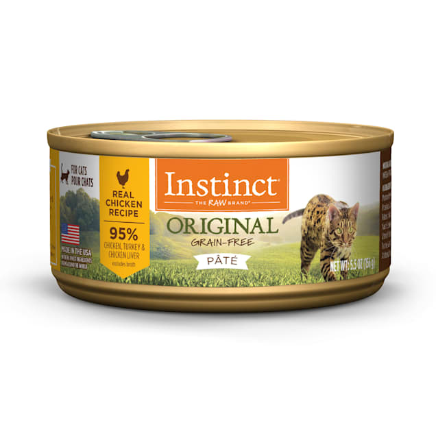 Instinct Original Grain-Free Pate Real Chicken Recipe Wet Cat Food, 5.5 oz., Case of 12 - Carousel image #1