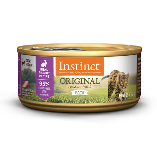 Instinct Original Grain-Free Pate Real Rabbit Recipe Wet Cat Food, 5.5 oz., Case of 12 - Carousel image #1