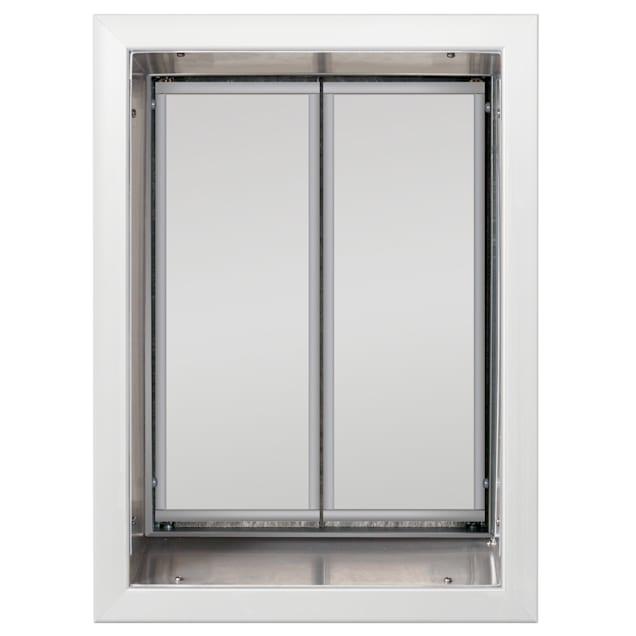 PlexiDor Wall Mount Pet Door in White, X-Large - Carousel image #1