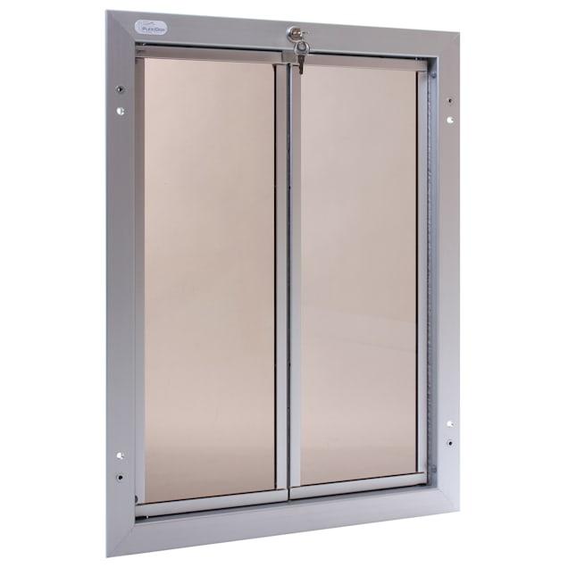 PlexiDor Door Mount Pet Door in Silver, X-Large - Carousel image #1