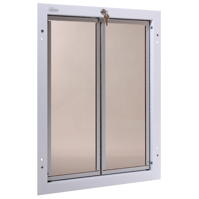 PlexiDor Door Mount Pet Door in White, X-Large - Carousel image #1