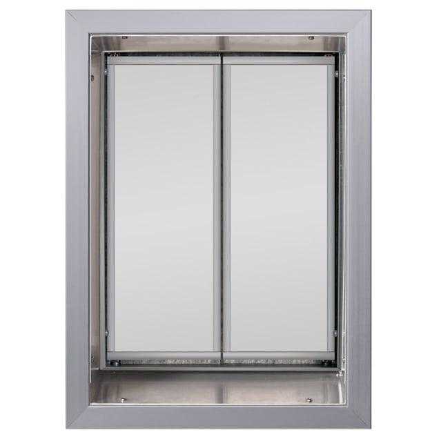 PlexiDor Wall Mount Pet Door in Silver, X-Large - Carousel image #1