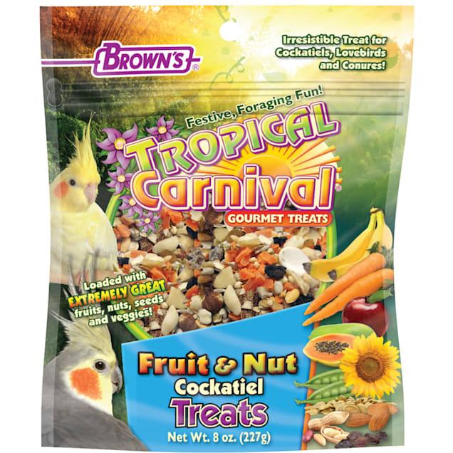 Brown's Tropical Carnival Gourmet Cockatiel Treats, 8 oz. - Carousel image #1