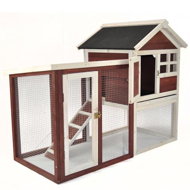 Advantek The Stilt House Rabbit Hutch in Auburn & White - Carousel image #1