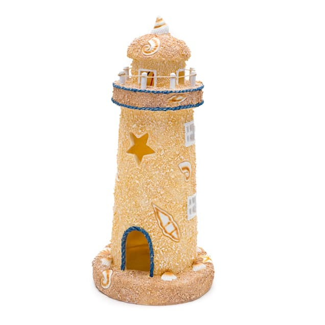 "Penn Plax Lighthouse Aquarium Ornament, 3.7"" L X 3.7"" W X 8.5"" H - Carousel image #1"