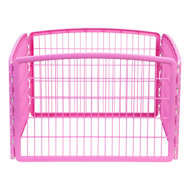 """Iris Pink Four Panel Pet Containment and Exercise Pen without Door, 23.6"""" L X 35.3"""" W X 23.6"""" H - Carousel image #1"""