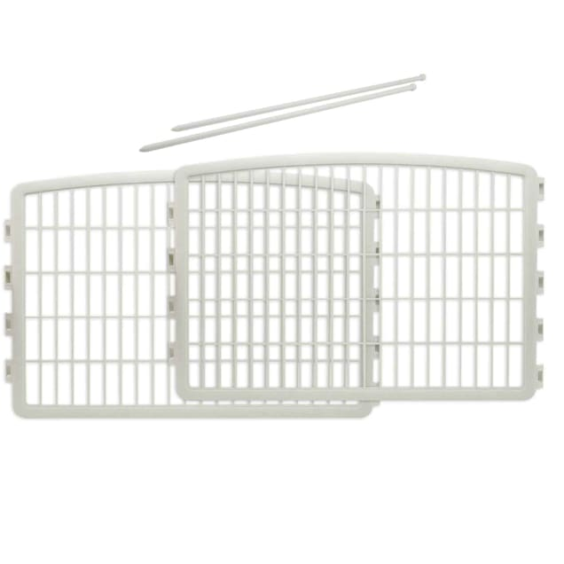 """Iris White Two Panel Add On for Four Panel Containment and Exercise Pet Pen, 35.3"""" L X 23.6"""" H - Carousel image #1"""