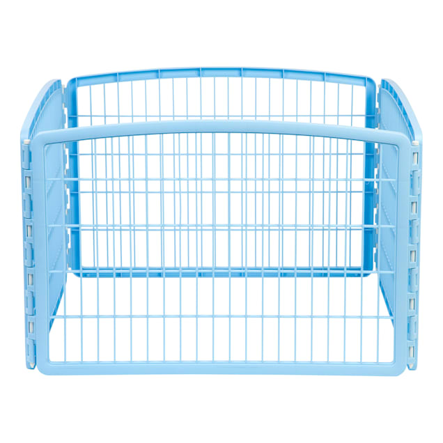"""Iris Blue Four Panel Pet Containment and Exercise Pen without Door, 23.6"""" L X 35.3"""" W X 23.6"""" H - Carousel image #1"""