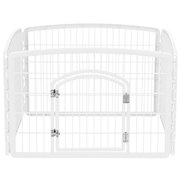 "Iris White Four Panel Pet Containment and Exercise Pen with Door, 36"" L X 36"" W X 24"" H - Carousel image #1"