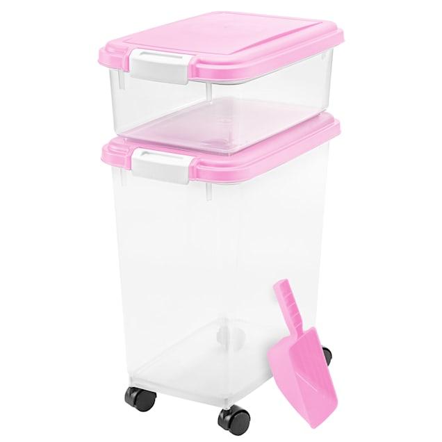 "Iris Pink and Clear Airtight Three Piece Food Storage Combo, 10.8"" L X 16.5"" W X 18.6"" H, 3 pc. - Carousel image #1"