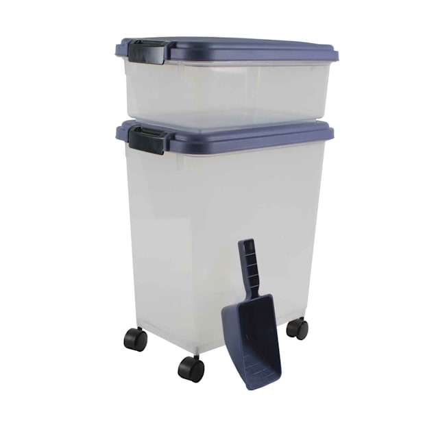 "Iris Blue Indigo and Clear Airtight Three Piece Food Storage Combo, 10.8"" L X 16.5"" W X 18.6"" H - Carousel image #1"