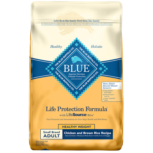 Blue Buffalo Blue Life Protection Formula Small Breed Adult Healthy Weight Chicken & Brown Rice Dry Dog Food, 15 lbs. - Carousel image #1