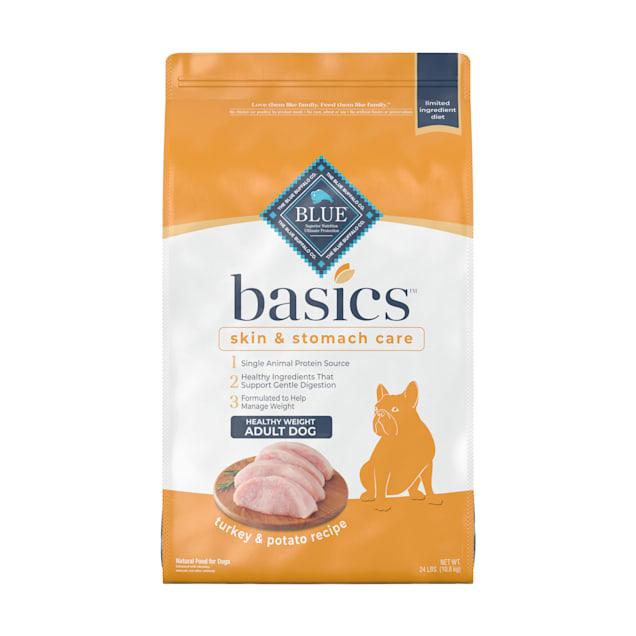 Blue Buffalo Blue Basics Adult Healthy Weight Turkey & Potato Recipe Dry Dog Food, 24 lbs. - Carousel image #1