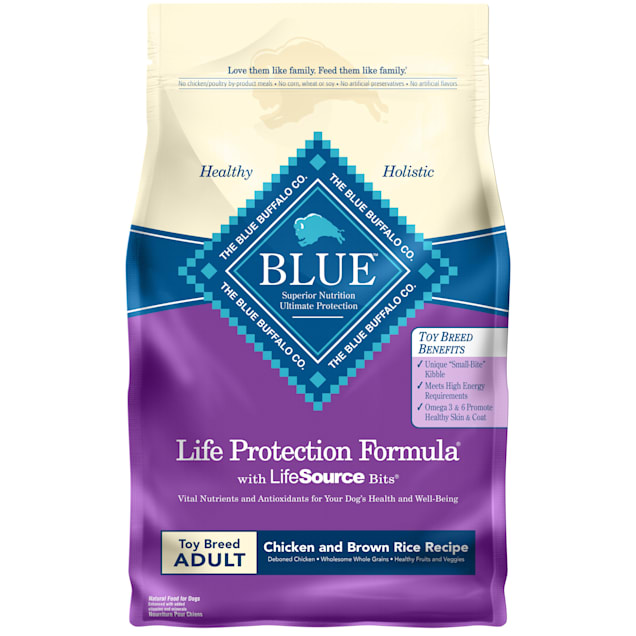 Blue Buffalo Blue Life Protection Formula Toy Breed Adult Chicken & Brown Rice Recipe Dry Dog Food, 4 lbs. - Carousel image #1