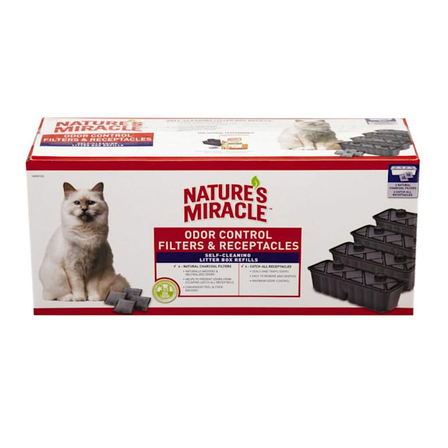 Nature's Miracle Odor Control Filters Refills For Self-Cleaning Cat Litter Boxes, 10 Count - Carousel image #1