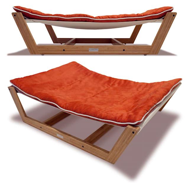 "Pet Lounge Studios Bambu Nautical Hammock Pet Bed in Orange, 35.5"" L X 26.25"" W X 9"" H - Carousel image #1"