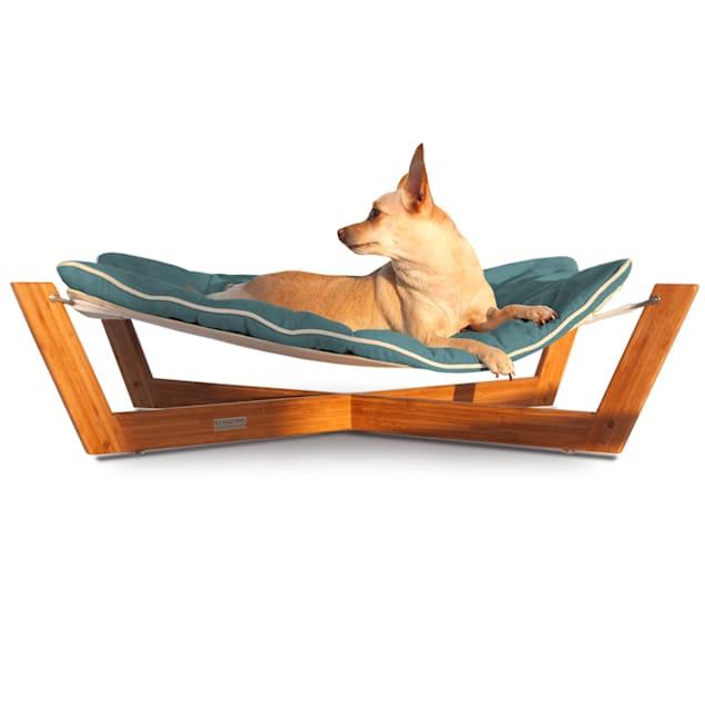 "Pet Lounge Studios Bambu Cross Hammock Pet Bed in Blue, 33.5"" L X 23"" W X 8.5"" H - Carousel image #1"