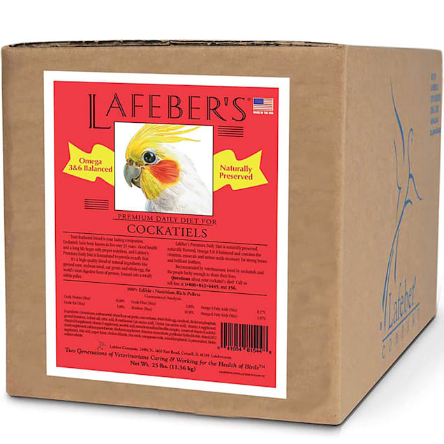Lafeber's Premium Daily Diet for Cockatiels, 25 lbs. - Carousel image #1