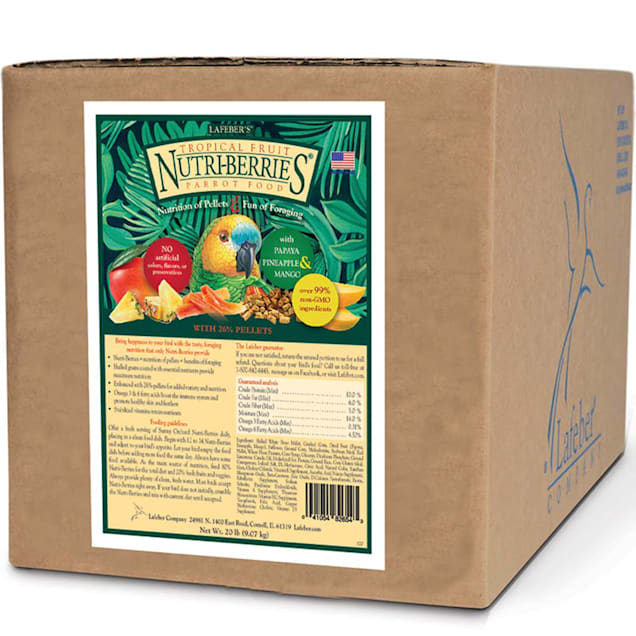 Lafeber's Tropical Fruit Nutri-Berries Parrot Food, 20 lbs. - Carousel image #1