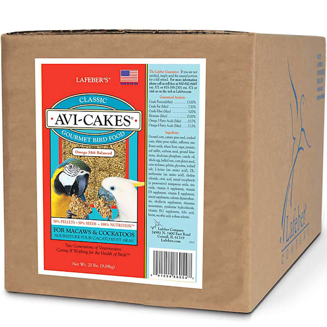 Lafeber's Classic Avi-Cakes for Macaws and Cockatoos - Carousel image #1