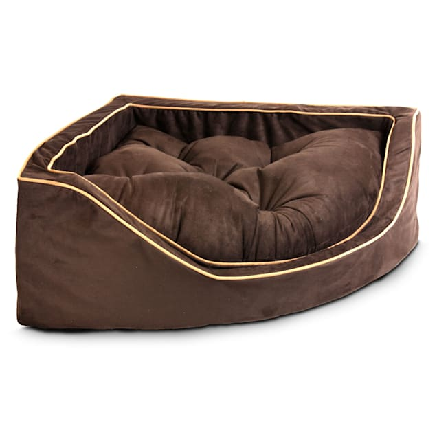 """Snoozer Luxury Corner Bed in Hot Fudge with Cafe Cording, 29"""" L x 29"""" W - Carousel image #1"""