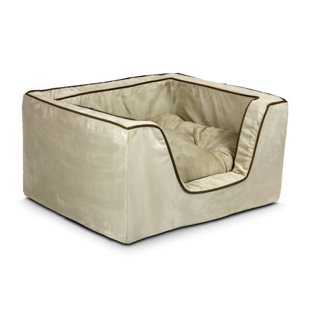 """Snoozer Luxury Square Bed in Buckskin with Java Cording, 27"""" L x 23"""" W - Carousel image #1"""
