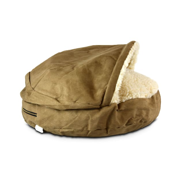 """Snoozer Luxury Cozy Cave Pet Bed in Camel & Cream, 45"""" L x 45"""" W - Carousel image #1"""