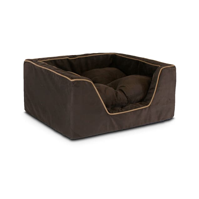 """Snoozer Luxury Square Bed in Hot Fudge with Cafe Cording, 27"""" L x 23"""" W - Carousel image #1"""