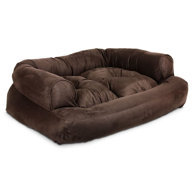 "Snoozer Luxury Overstuffed Sofa in Hot Fudge, 36"" L x 54"" W x 13"" H - Carousel image #1"