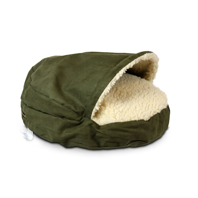 """Snoozer Luxury Cozy Cave Pet Bed in Olive & Cream, 45"""" L x 45"""" W - Carousel image #1"""