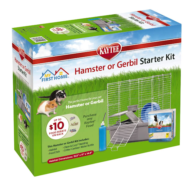 """Kaytee My First Home Hamster or Gerbil Starter Kit, 13.5"""" L X 11"""" W X 14.5"""" H - Carousel image #1"""