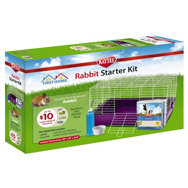 "Kaytee My First Home Rabbit Starter Kit, 30"" L X 18"" W X 16.5"" H - Carousel image #1"
