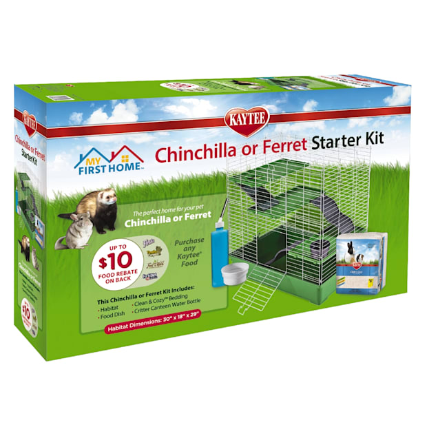 """Kaytee My First Home Ferret or Chinchilla Starter Kit, 30"""" L X 18"""" W X 29"""" H - Carousel image #1"""