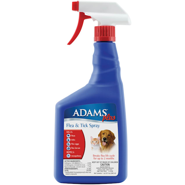 Adams Plus Flea and Tick Spray for Cats and Dogs, 32 fl. oz. - Carousel image #1
