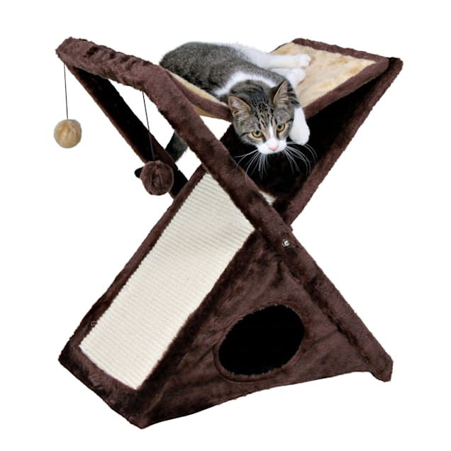 "Trixie Miguel Cat Scratching Tower in Beige & Brown, 25.5""H - Carousel image #1"
