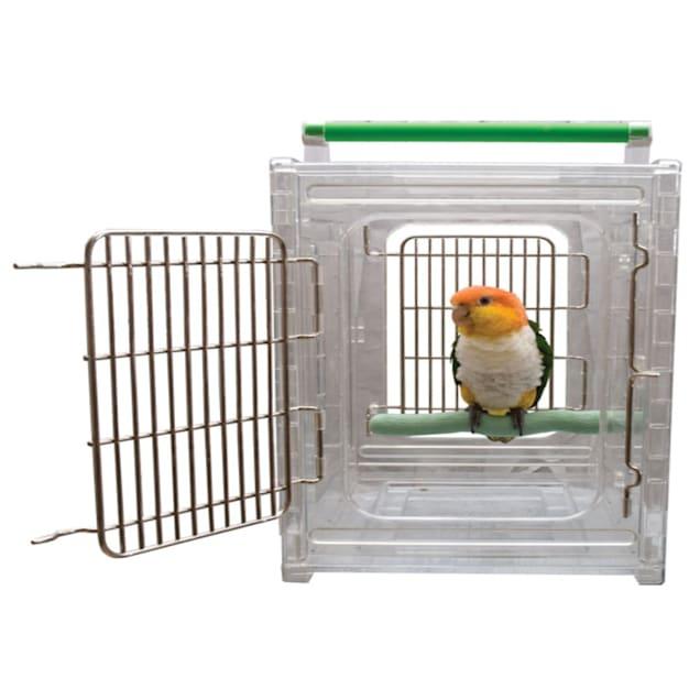 "Caitec Perch N Go Polycarbonate Bird Carrier, 12"" L X 10"" W X 15"" H - Carousel image #1"