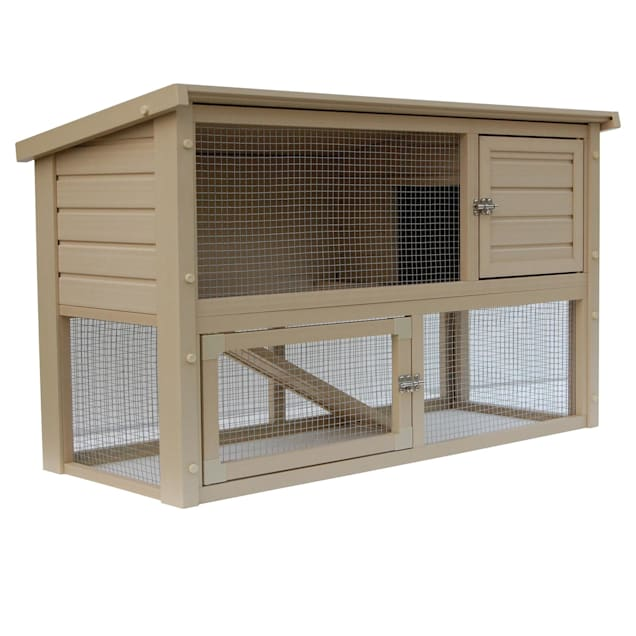 "New Age Pet Eco-Concepts Columbia Rabbit Hutch with Pen, 43.9"" L X 19.3"" W X 29.3"" H - Carousel image #1"