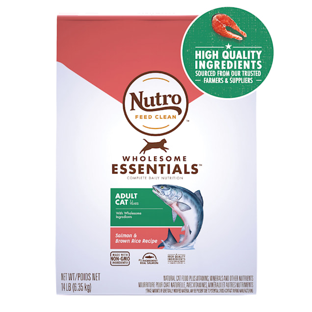 Nutro Wholesome Essentials Adult Salmon & Brown Rice Recipe Natural Dry Cat Food, 14 lbs. - Carousel image #1