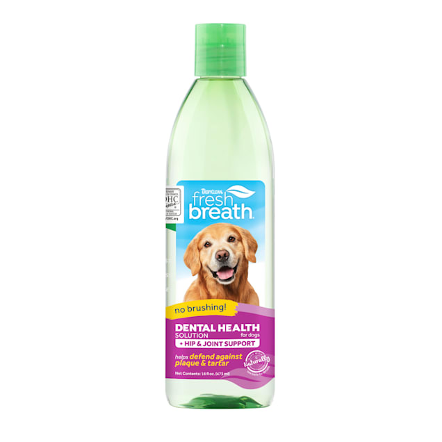 TropiClean Fresh Breath Dental Health Solution Plus Hip & Joint for Dogs, 16 fl. oz. - Carousel image #1