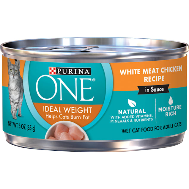 Purina ONE Natural Ideal Weight White Meat Chicken Recipe in Sauce Wet Cat Food, 3 oz., Case of 24 - Carousel image #1