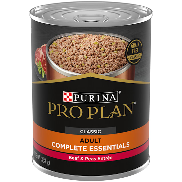Purina Pro Plan Grain Free Pate SAVOR Classic Beef & Peas Entree Wet Dog Food, 13 oz., Case of 12 - Carousel image #1