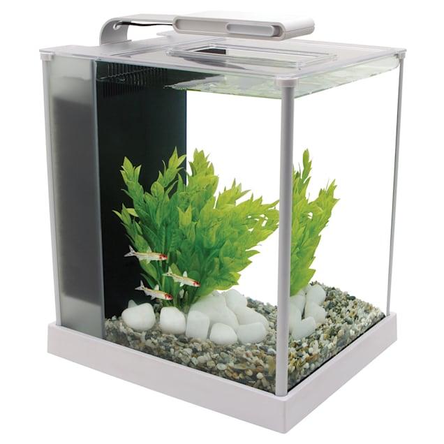 Fluval 2.6 Gallon Spec III Aquarium Kit, White - Carousel image #1