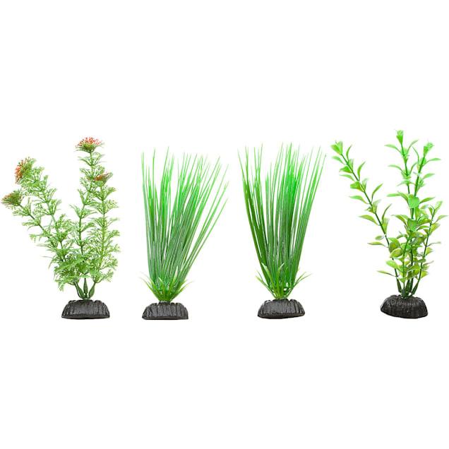 Imagitarium Green Plastic Aquarium Plants Foreground Value Pack - Carousel image #1