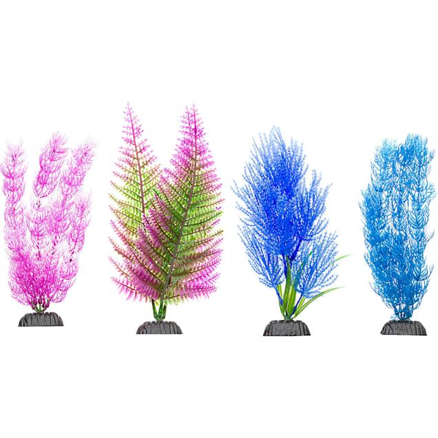 Imagitarium Colorful Plastic Aquarium Plants Midground Value Pack - Carousel image #1