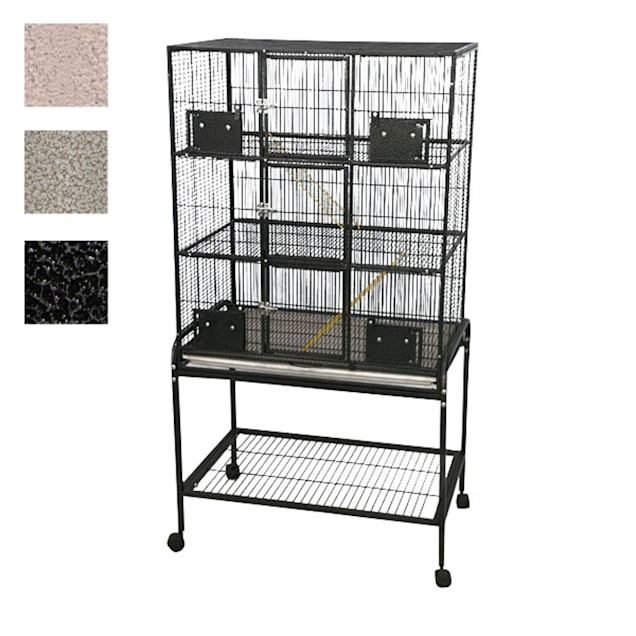 "A&E Cage Company 3 Level Small Animal Cage with Removable Base in Black, 33"" L X 22"" W X 63"" H - Carousel image #1"