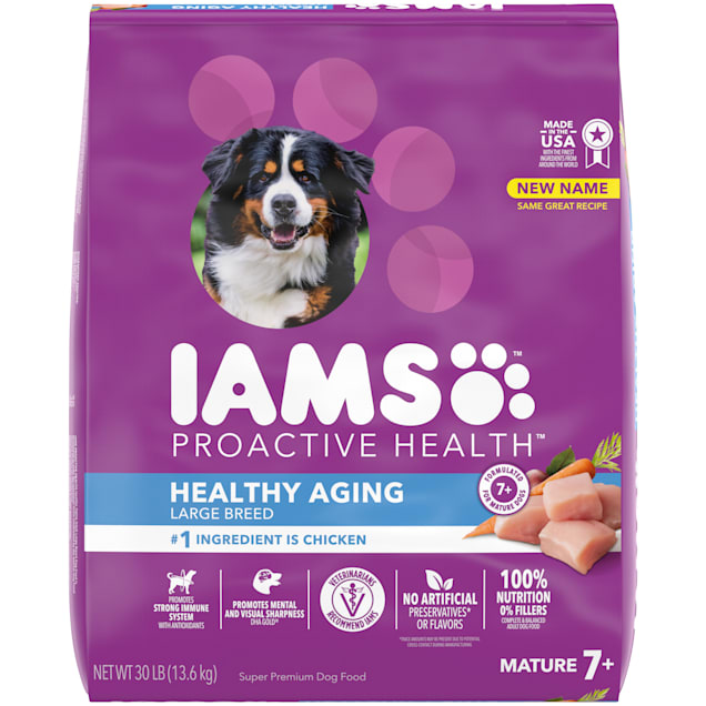 Iams ProActive Health with Real Chicken, Mature Adult Large Breed Dry Dog Food, 30 lbs. - Carousel image #1