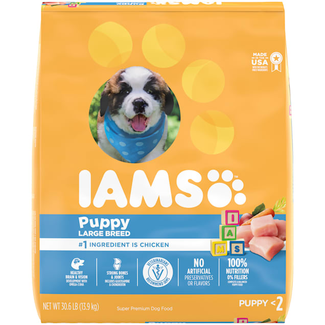 Iams ProActive Health Smart Puppy with Real Chicken Large Breed Dry Food, 30.6 lbs. - Carousel image #1