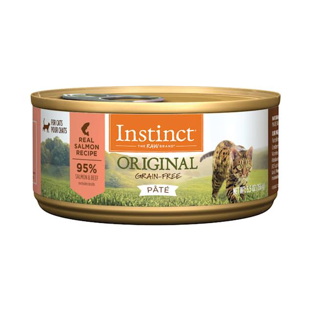 Instinct Original Grain-Free Pate Real Salmon Recipe Wet Cat Food, 5.5 oz., Case of 12 - Carousel image #1